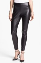 Vince Camuto Faux Leather Seamed Leggings
