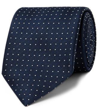 Brioni 8mm Polka-Dot Silk-Jacquard Tie