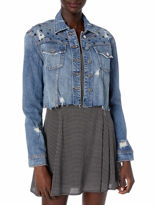 True Religion Women's CROPPED BOXY JACKET W PRINT