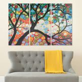 Safavieh 3-piece ''Cherry Blossom'' Triptych Canvas Wall Art Set