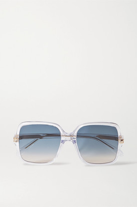 Givenchy Oversized Square-frame Acetate Sunglasses - Clear