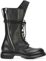 Rick Owens lace-up combat boots - women - Leather/rubber - 39