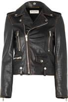 Saint Laurent Perfecto Distressed Leather Biker Jacket - Black
