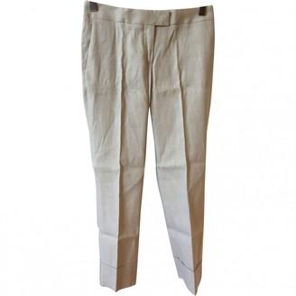 Fabiana Filippi Beige Linen Trousers for Women