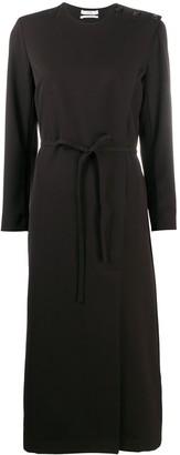 Co Wrap Design Belted Dress