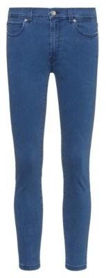 HUGO BOSS Super Skinny Fit Cropped Jeans In Stretch Denim - Light Blue