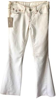 True Religion White Cotton Trousers for Women