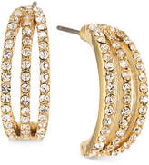 Carolee Gold-Tone Pavé Half-Hoop Earrings