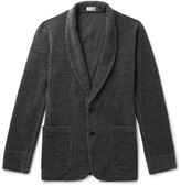 Camoshita Brushed Wool-Blend Shawl-Collar Cardigan