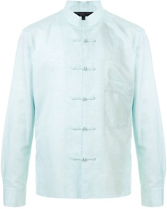 Shanghai Tang Frog Button Chest Pocket Shirt Jacket