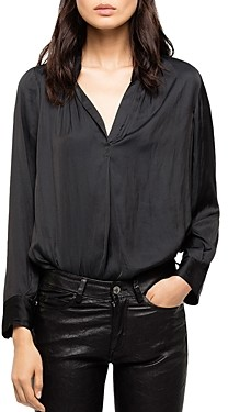 Zadig & Voltaire Tink Satin Tunic Blouse