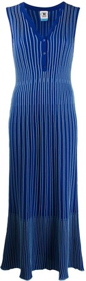M Missoni Striped Stretch-Knit Dress