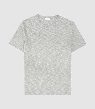 Reiss Ryan - Melange Cotton Blend T-shirt in Grey