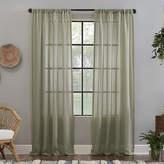 Clean Window Solid Anti-Dust Rod-Pocket Single Sheer Curtain Panel