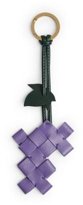 Bottega Veneta Leather Intrecciato Keyring