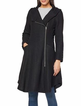 Joe Browns Women's Boiled Wool Jacket Black (Black (Size:12)