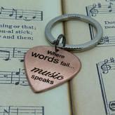 Nicola Crawford Music Quote Plectrum Keyring