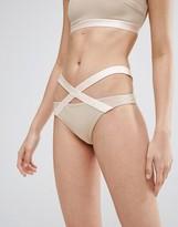 Asos Elastic Trim Strappy Hipster Bikini Bottom