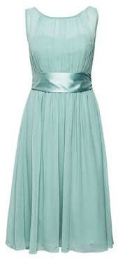 Dorothy Perkins Womens Showcase Petite Green 'Bethany' Midi Bridesmaid Skater Dress, Green