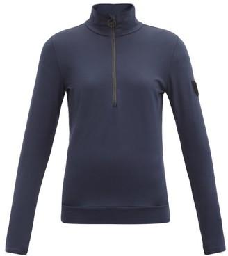 Toni Sailer Wieka Half-zip Jersey Thermal Top - Dark Blue