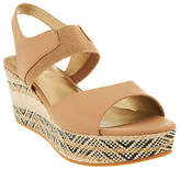 Me Too As Is Leather Gored Wedges with Printed Bottom - Cara