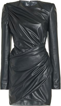 Alexandre Vauthier Gathered Leather Mini Dress