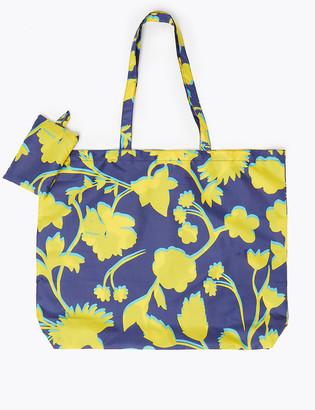 Marks and Spencer Floral Packable Shopper Bag
