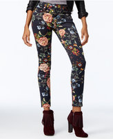 7 For All Mankind The Ankle Floral Skinny Jeans