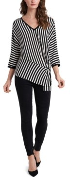 Vince Camuto Striped Ribbed Sweater