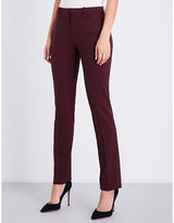 Theory Hartsdale straight mid-rise stretch-wool trousers