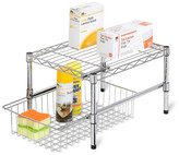 Honey-Can-Do Chrome Adjustable Shelf/Basket Cabinet Organizer