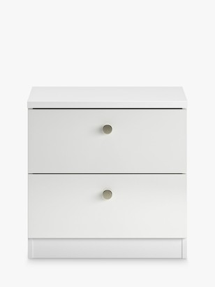 House by John Lewis Mix it Bedside Table, Gloss White