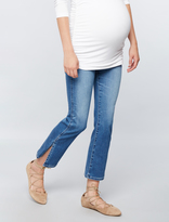 A Pea in the Pod Ag Jeans Secret Fit Belly Jodi Crop Side Slit Maternity Jeans