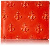 Jack Spade Men's Embossed Anchor Bill Holder Bifold Wallet