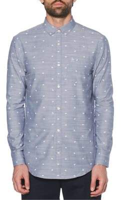Original Penguin Heritage-Fit Printed Chambray Shirt