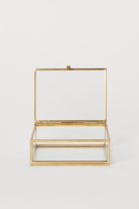 H&M Clear Glass Box - Gold
