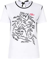 Miu Miu illustrated bow-back T-shirt