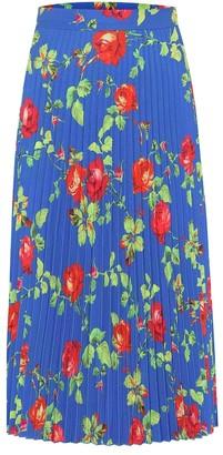 Vetements Floral pleated crApe skirt
