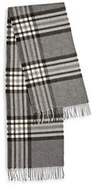 Black Brown 1826 Fringed Plaid Scarf