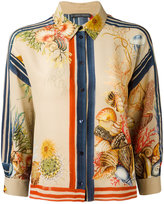 Alberta Ferretti printed silk shirt