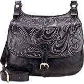 Patricia Nash Tuscan Tooled London Small Saddle Bag