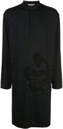 Yohji Yamamoto skull long shirt