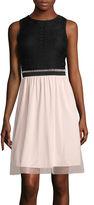 Speechless Sleeveless Two-Tone Tulle Dress