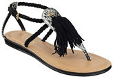 GUESS Frannie Suede Tassle Sandals