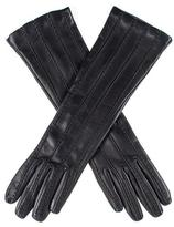 Black Leather Musketeer Gloves with Points