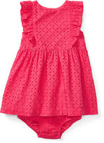 Ralph Lauren Girl Cotton Eyelet Dress & Bloomer