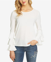 CeCe Tiered Bell-Sleeve Blouse