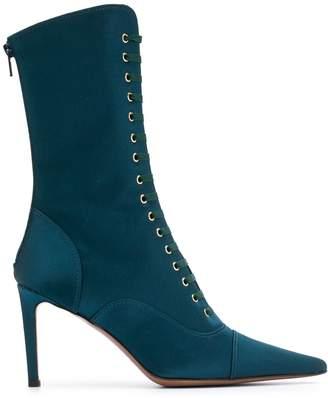 L'Autre Chose Satin high heel boots