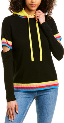 Threads Of Privilege Threads Of Prvlg Cutout Cashmere Hoodie