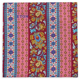 Eton Floral Stripe Pocket Square